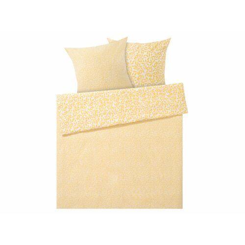 Meradiso® pościel z bawełny renforcé 220 x 200 cm, 1 komplet (wzór kwiatowy/żółty) (4056233736373)