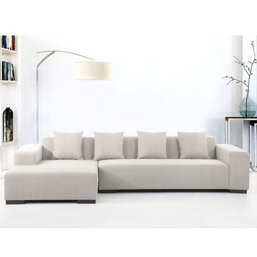 Sofa beżowa - sofa narożna R - tapicerowana - LUNGO - produkt z kategorii- Narożniki