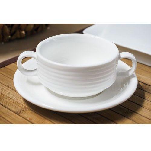 Giardino horeca porcelanowa bulionówka 175 ml ze spodkiem marki Giardino / horeca-gastronomia