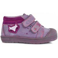 Ponte 20 dziewczęce skórzane buty 22 fioletowe