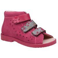 Sandałki Profilaktyczne Ortopedyczne Buty DAWID 1042 Różowy RCKP - Różowy ||Fuksja