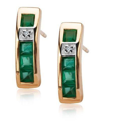 Złote kolczyki kzd1174 - diament marki Staviori