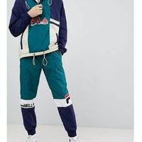 Fila colour block joggers in green - Green