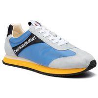 Sneakersy CALVIN KLEIN JEANS - Jerrold S0615 Multi Silver Lake Bl, kolor niebieski