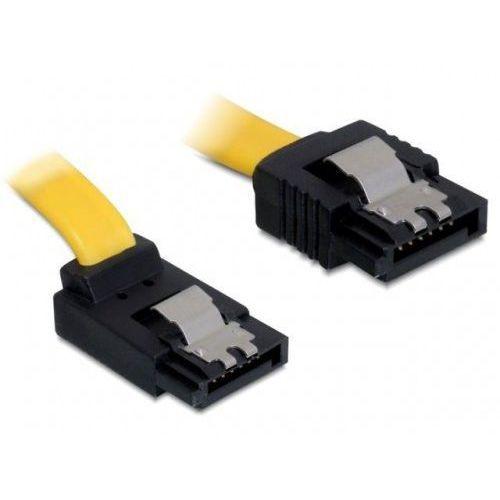 kabel sata ii 3gb/s 20cm kątowy góra/prosto (metalowe zatrzaski) żółty darmowa dostawa do 400 salonów !!, marki Delock