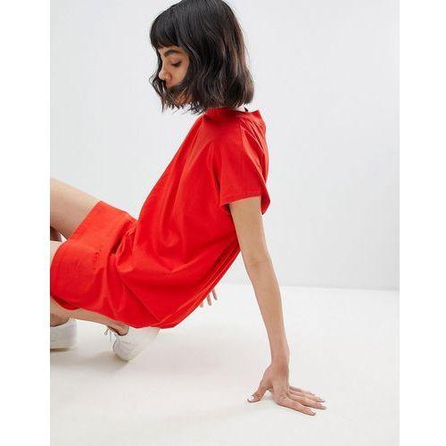 Weekday high neck dress - red