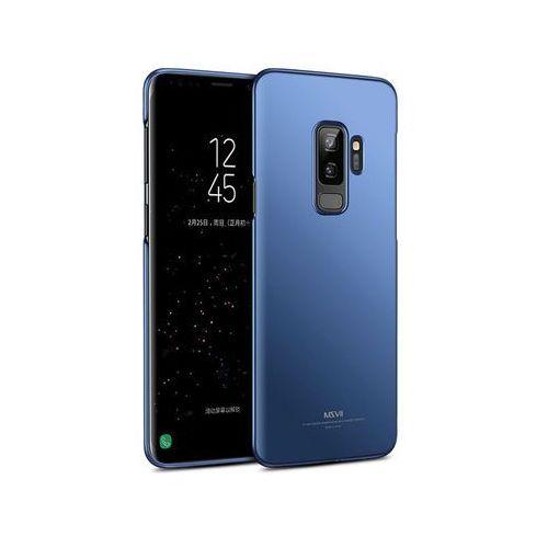 Etui thin case samsung galaxy s9+ plus niebieskie +szkło - niebieski marki Msvii