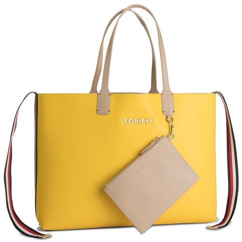 Tommy hilfiger Torebka - iconic tommy tote aw0aw06833 904