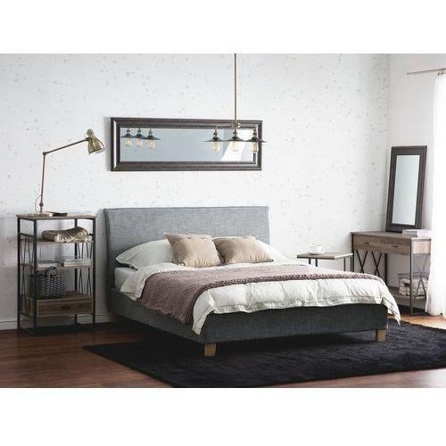 Łóżko tapicerowane szare stelaż 160 x 200 cm SENNEZ (7105274390628)