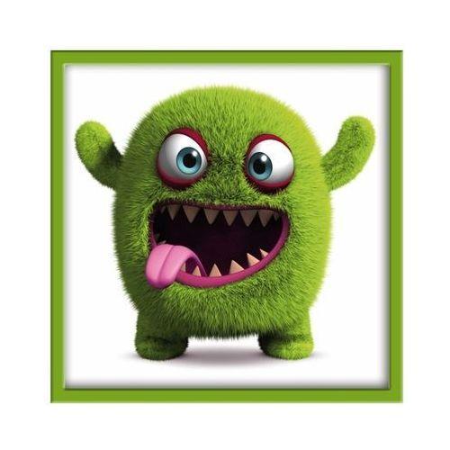 Obraz 20 x 20 cm Zielony potworek