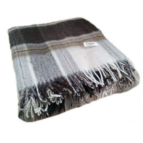 Koc wełniany tkany z frędzlami bogna marki Wooltex