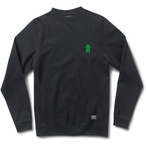 Grizzly Bluza - og bear emb crewneck black/green (bkgn) rozmiar: s