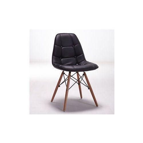 """Krzesło """"bari""""- czarne z bukowymi nogami marki Pozostali"""