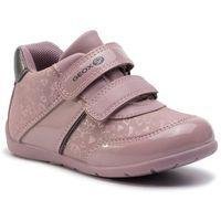 Geox Sneakersy - b elthan g. b b941qb 0afhi ca89f old rose/dk grey
