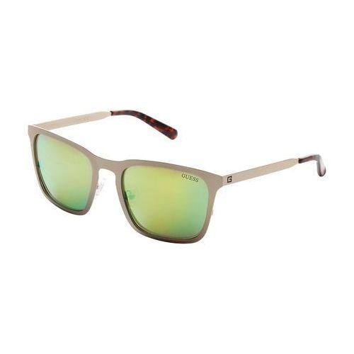 Okulary przeciwsłoneczne męskie GUESS - GU6880-35, kolor żółty