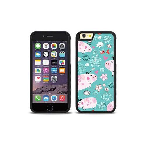 Apple iphone 6s - etui na telefon aluminum fantastic - różowe świnki marki Etuo aluminum fantastic