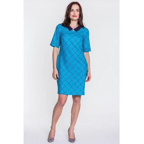 Sukienka w kratę - Margo Collection, 1 rozmiar
