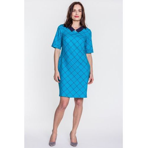Sukienka w kratę - Margo Collection, kolor zielony