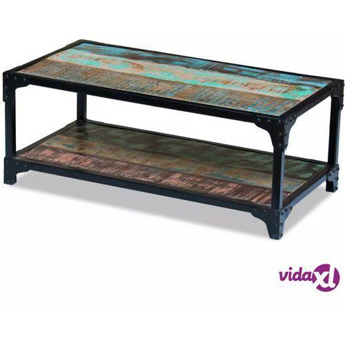 Vidaxl stolik kawowy z drewna odzyskanego kolorowy (8718475993087)