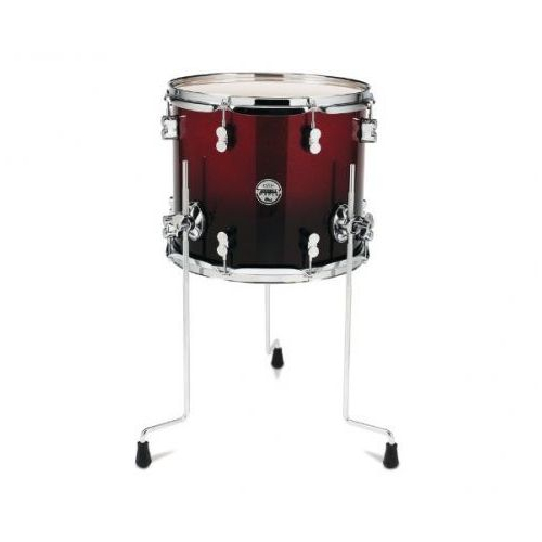 Pdp by dw floor tom concept maple, red to black sparkle fade