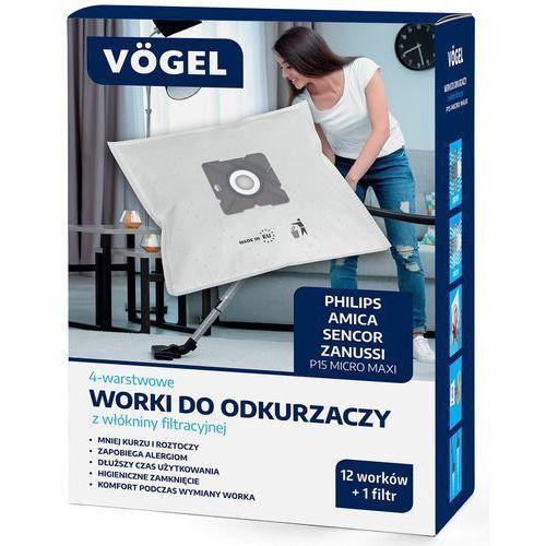 VÖgel Worki do odkurzacza p15 (12 sztuk + filtr) (5902729062817)