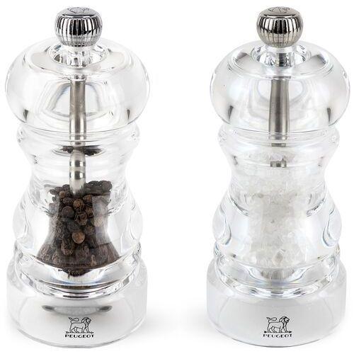 Peugeot Młynki do pieprzu i soli 12 cm nancy transparentne (pg-2-900812) (4006950018092)