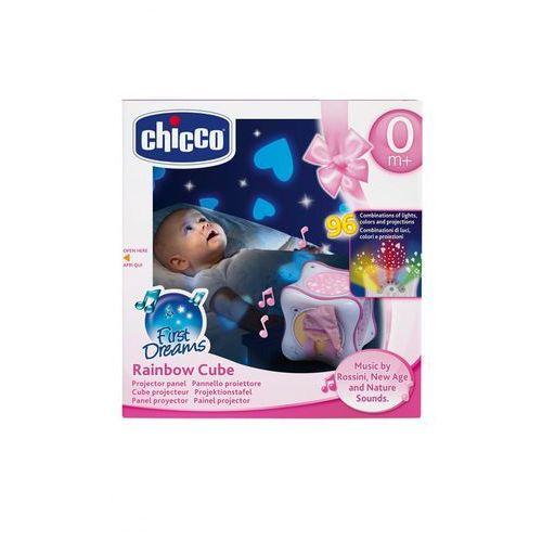 tęczowa kostka różowa marki Chicco