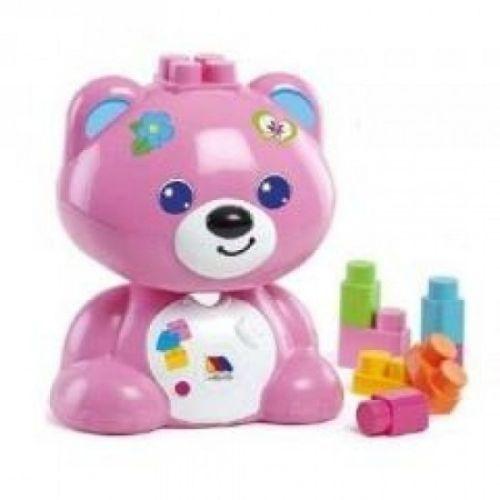 Niedźwiadek z klockami różowy