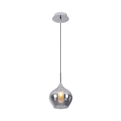 Lampa wisząca Maxlight City P0346 zwis 1x25W G9 chrom/szkło dymione