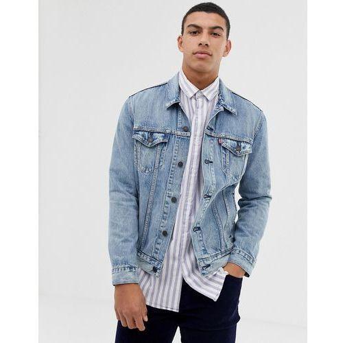 Levis Levi's killebrew denim trucker jacket in light wash - blue