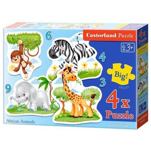 Castorland Puzzle konturowe 3-4-6-9 african animals 4 w 1 (5904438005017)