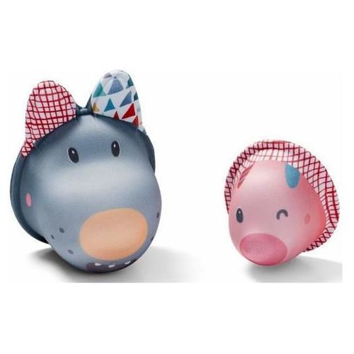 Lilliputiens  zabawki do wody wilk nicolas i świnka z neoprenu (5414834868340)