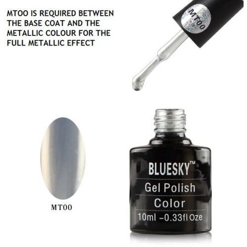Bluesky Shellac Metalic - efekt lustra 10 ml - nr MT00