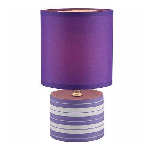 LAMPKA biurkowa LAURIE 21661 Globo abażurowa LAMPA stołowa IP20 okrągły paski fioletowy (9007371288632)
