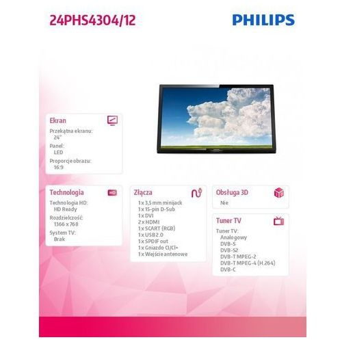 TV LED Philips 24PHS4304