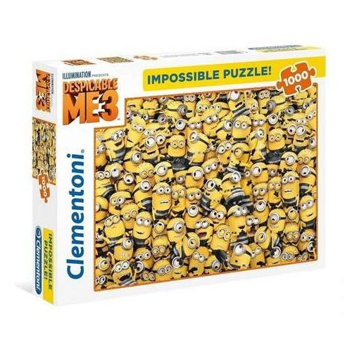 Clementoni Puzzle 1000 impossible puzzle high quality collection minionki -