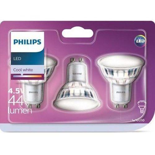 Philips Żarówka LED GU10 4,5W (50W) 440lm 230V barwa naturalna 86843(3szt)