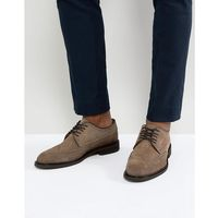 suede brogue shoes - grey marki Selected homme