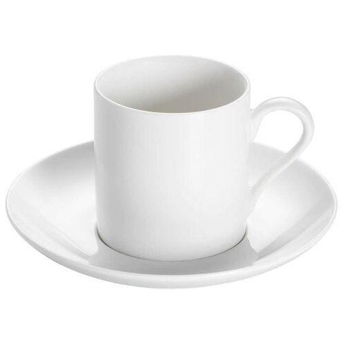 - basics round - filiżanka do espresso ze spodkiem, 100 ml marki Maxwell & williams