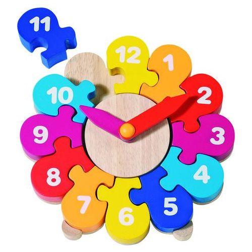 Zegar do nauki godzin - kwiatek z kategorii Zabawki drewniane
