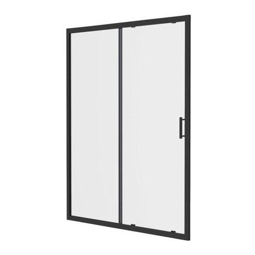 Drzwi prysznicowe przesuwne beloya 140 cm czarne / transparentne marki Goodhome