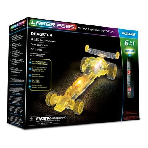 6 in 1 Dragster - Laser Pegs