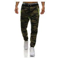 Spodnie męskie dresowe joggery moro multikolor Denley 3783G