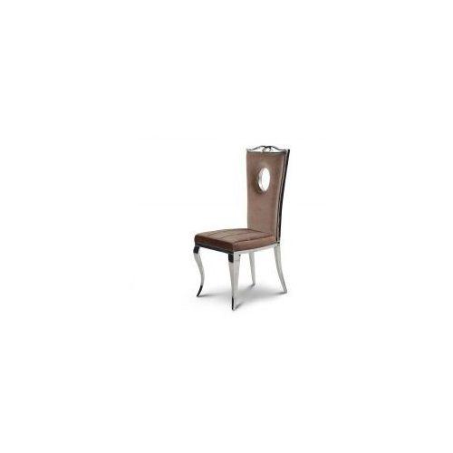 Krzesło glamour Luxury Brown - nowoczesne krzesło tapicerowane (5908273392653)