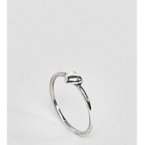 Reclaimed Vintage Inspired Sterling Silver Heart Ring - Silver
