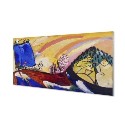 Obrazy na szkle Sztuka wiejski krajobraz abstrakcja