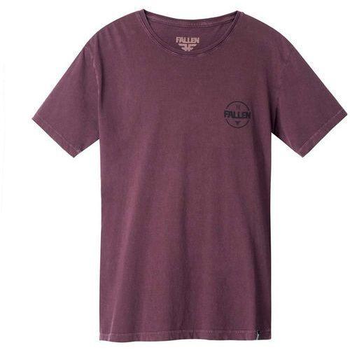 Fallen Koszulka - heritage tees bordeaux/enzymatic washed (bordeaux) rozmiar: s
