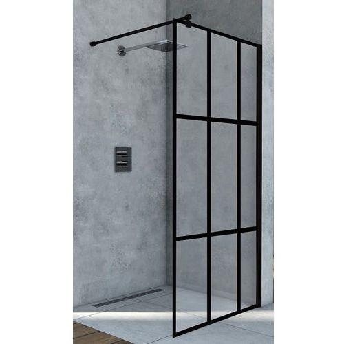 Ścianka Walk In 110 cm szkło z czarnymi szprosami BK251T10A6