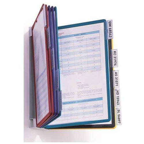 Durable Kompletny zestaw uchwytów ściennych, z 10 przezroczystymi tablicami din a4, z pr