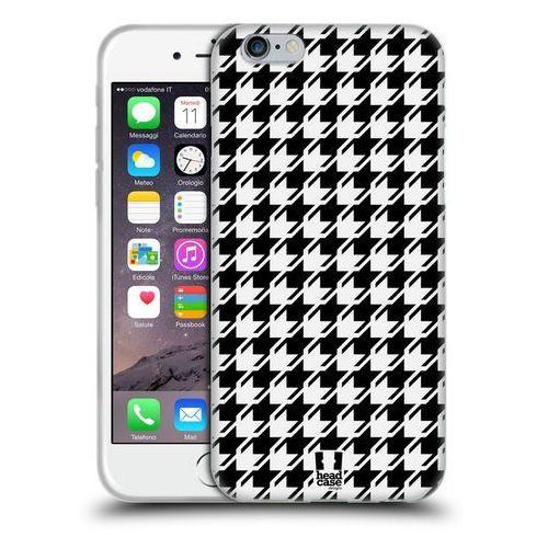 Head case Etui silikonowe na telefon - houndstooth patterns black